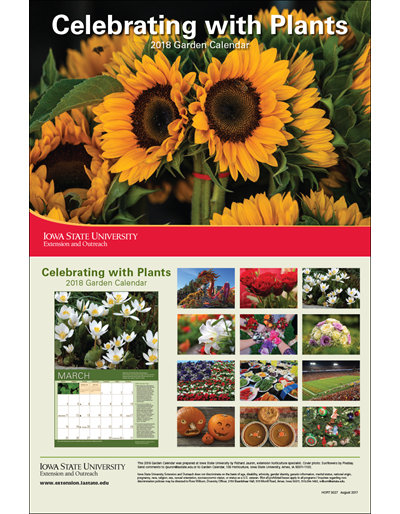 2018 garden calendar celebrating with plants for Gardening 2018 calendar