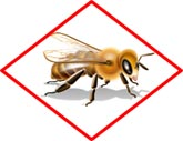 Bee hazard icon that will accompany EPA pesticide label directions to protect pollinators.