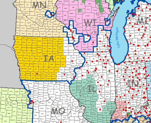 Emerald Ash Borer Confirmed in Union County, Iowa ... on map of forest fires, map of ambergris, map of bay village, map of log country cove,