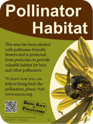 Xerces Society Pollinator Habitat SIgn