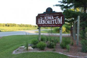 Entrance sign to Iowa Arboretum, Madrid Iowa