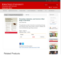 Prevention, Detection, and Control of Bed Bugs in the Home - Iowa IPM Notes