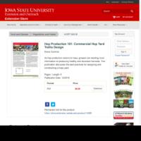Hop Production 101: Commercial Hop Yard Trellis Design