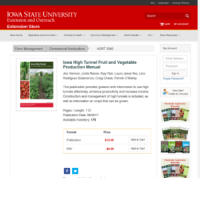 Iowa High Tunnel Fruit and Vegetable Production Manual